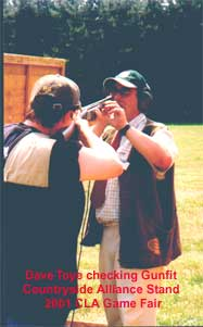 Dave Toye coaching at the 2001 Games Fair