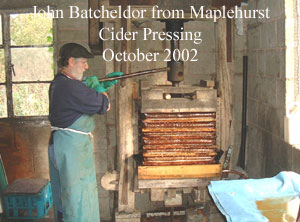 John Batcheldor Cider Making in Maplehurt 2002