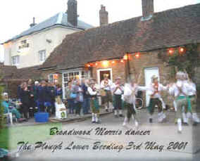 Broadwood Morris Dancer at The Plough Lower Beeding